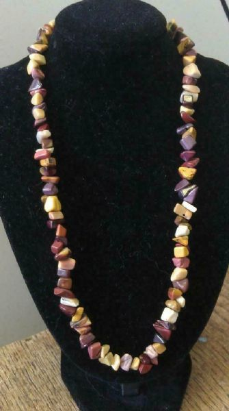 "Mookaite Chip Necklace 16"" to 34"", Long Necklace, Short Necklace"